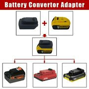 1pc Diy Adapter For 20v Battery Convert To Black Decker Porter Cable Max
