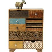 Vivid Screen Contemporary Mango Wood Tallboy Chest Of Drawers 10 Made To Order