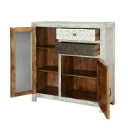 Made To Order Vivid 2 Drawers Distressed Mango Wood Accent Storage Small Cabinet