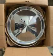 Nos Set Of 4 15andrdquo Steel Namsco Moon Hubcaps Us Made 1957 Plymouth Style