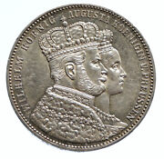 1861 A Prussia German State Coronation King Wilhelm I Silver Taler Coin I96098