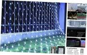 Net Christmas Lights 200 Led 9.8ft X 6.6ft Pure Whiteupgrade Low Voltage