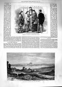 Original Old Antique Print 1881 Ruins Carthage Tunis Marriage Chinese Dres 19th