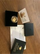 ⭐ 2021-w 1 Oz American Eagle One Ounce Gold Proof Coin 21ebn Type 2 Coin In Hand