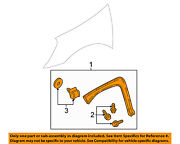 Buick Gm Oem Rendezvous Front Fender-wheel Well Flare Arch Molding Left 88951965