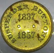 1863 Suspender Buttons S. P. Lincolnand039s Emancipation Token Very Rare