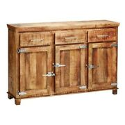 Cromer Reclaimed Wood Buffet Sideboard 3 Drawer And 3 Door Natural Made To Order