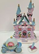Disney Light Up Cinderella Castle Ceramic With Carriage And Shoe