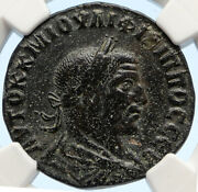King Philip I The Arab - Ancient Antioch Old Antique Roman Coin Tyche Ngc I95650