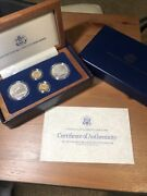 1987 Us Constitution 4 Coin Commemorative Set Gold And Silver