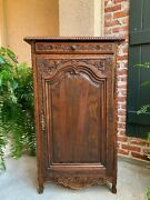 19th Century Antique French Carved Oak Cabinet Confiturier Louis Xv Tall Pegged