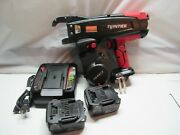 Max Rb441t Twintier Cordless Rebar Tie Wire Machine W/ 2 Batteries And Charger