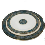 Royal Doulton Carlyle Fine Bone China Set Of Dinner Plate + Salad Plate New