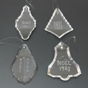 Glory Baccarat Christmas Ornaments 1984 2004 Objects Crystal Glass Clear Charm