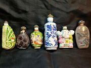 Lot Of 6 Nice Antique - Vintage Snuff Bottle's In Excellent Condition ⭐