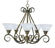 Pacific-5 Light Chandelier In Transitional Style-29 Inches Wide By 21.5 Inches