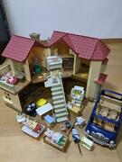 Sylvanian Families Big House With Light Car Furniture Doll Impression