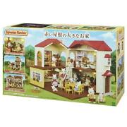 Sylvanian Families Large House With Red Roof Doll Play Present