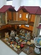 Sylvanian Families Large House With Light Doll Set