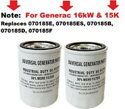 2 Oil Filter For Generac Generator Replacement For Extended Life Oil 2 Pack