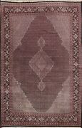 Vintage Vegetable Dye Tebriz Traditional Area Rug Hand-knotted Kork Wool 9and039x13and039