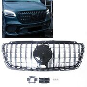 Car Front Bumper Grill Grille Cover For Mercedes-benz Spint 2018-2020 Gt Silver