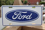 Rare Vintage Ford Embossed Aluminum License Plate - Mustang