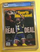 Shaquille Shaq Oand039neal Sports Illustrated Lsu Rookie Cover Cgc 8.0 1/21/91 Top 5