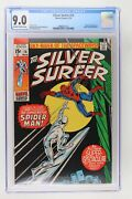 Silver Surfer 14 - Marvel 1970 Cgc 9.0 Spider-man Appearance