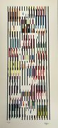 Yaacov Agam Tapestry Suite Original Serigraph Pencil Signed Agamograph
