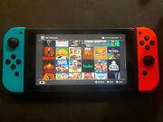 Nintendo Switch 32gb Neon Red/blue Console With 24 Games And 250gb Sd Memory Card