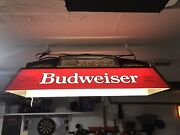 Budweiser Pool Table Light W/ Clydesdale Team