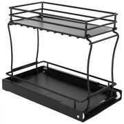 1pc Useful Simple Multi-layer Rack Built-in Shelf For Kitchen Cabinet