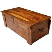 Made To Order Avalon Wooden Storage Trunk Chest Box Coffee Table Honey Brown