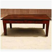 Made To Order Avalon Rustic Handcrafted 2 Drawer Solid Wood Coffee Table