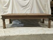 Indian Solid Wood Rectangular Coffee Table Natural Made To Order