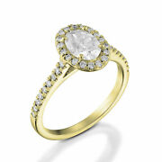 1.55 Ct Gorgeous Oval Cut Diamond Engagement Ring 18k Yellow Gold D/si1