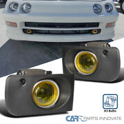 For 94-97 Acura Integra Yellow Fog Lights Front Driving Lamps+switch+wiring Kit