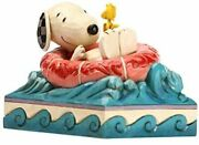 Enesco Jim Shore Snoopy And Woodstock Floaty 6005942 W11.5 × H10 × D9cm