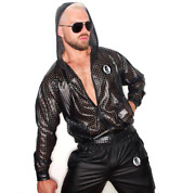 Slick It Up Ny - Vented Leatherette Hoodie - Faux Leather - Limited Edition 2015