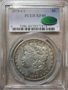 1879-cc Morgan Dollar Silver S1 Extra Fine Pcgs Xf40 Cac Certified Key Date