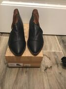 New Woman's Free People Black Royale Leather Flat Shoes Size Size 939