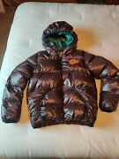 Vtg The Original Jeep Duck Down Puffer Jacket Rare Menand039s Medium Brown And Green