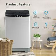 Full-automatic Washing Machine 13lbs Portable Compact 2 In 1 Laundry Washer