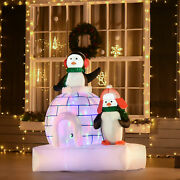 5and039 Light Up Penguins Outdoor Christmas Inflatable Yard Decoration W/ Led Lights