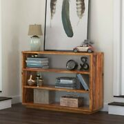 Delaware Rustic Solid Wood Entryway Hall 4 Tier Bookcase Console Made To Order