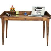Boston Silver Contemporary Solid Wood Study Desk Office Computer Made To Order