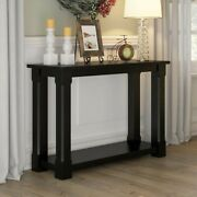 Brim Son Contemporary Style Solid Wood Console Hall Table Black Made To Order