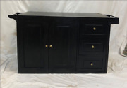 Boston Indian Solid Wood Buffet Sideboard With Door And Drawer Made To Order