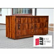 Made To Order Indian Rosewood Diamond Chest Of Drawers 140 Cm Brown 140x40x60